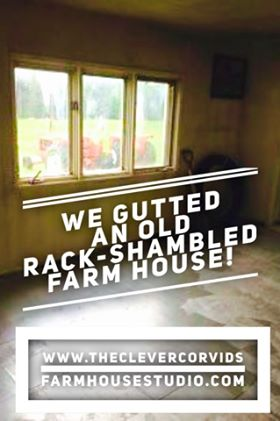 This picture may not look like lots, but it was not always an empty room! The carpets were ripped out, the walls scrubbed down, lot of junk was hauled out to leave you with this empty space with large picture windows. Here's what happens when you gut an old farm house. #farmhouse #salvage #organize #organization
