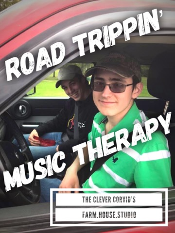 Alexander and Billy are full of smiles and  ready to hit the highway for a road trip to the farm. Too bad they didn't have my epic playlist of great music to get them there. They won't be without it anymore!